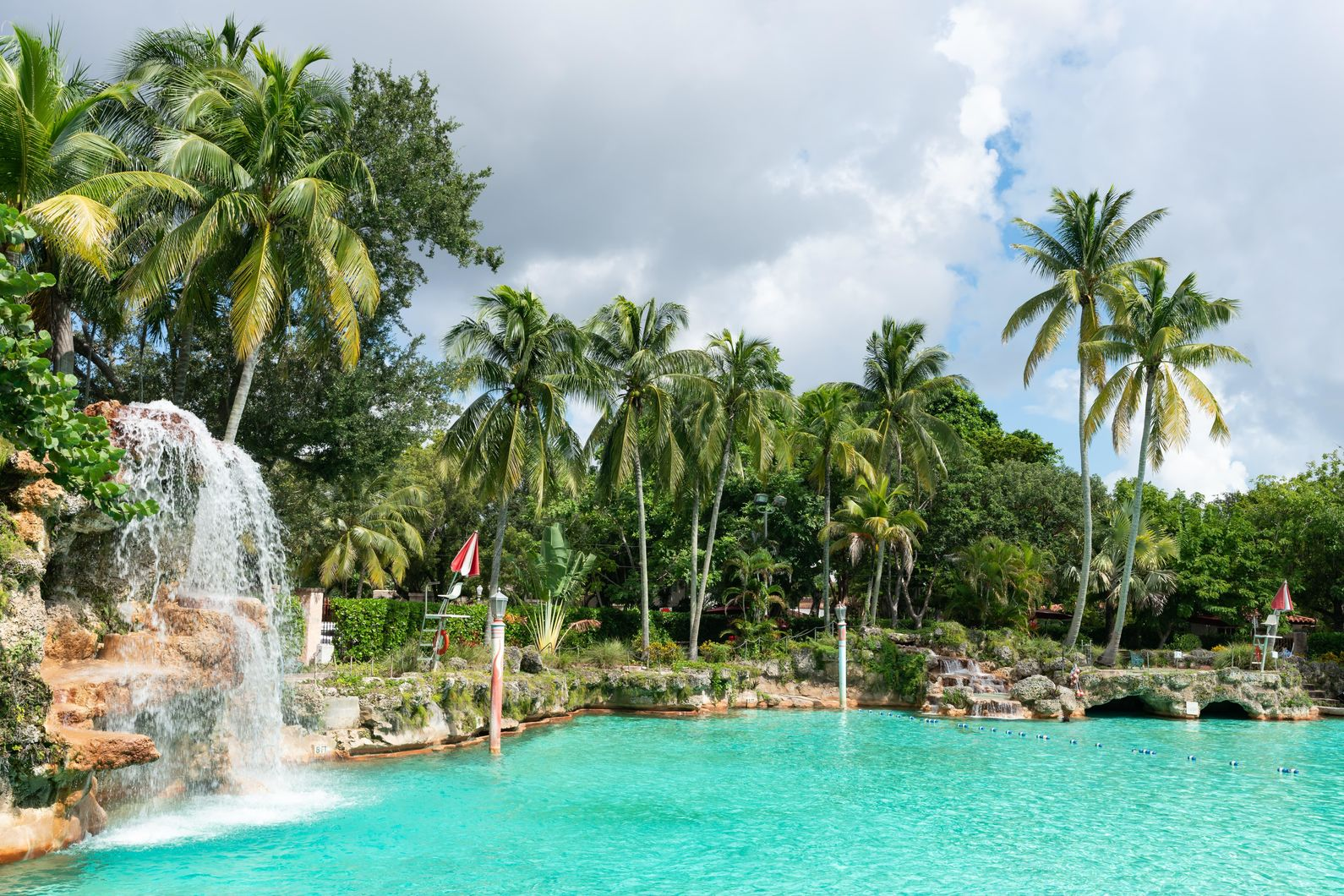 The Venetian Pool Near The Henry Apartments in Coral Gables, FL.
