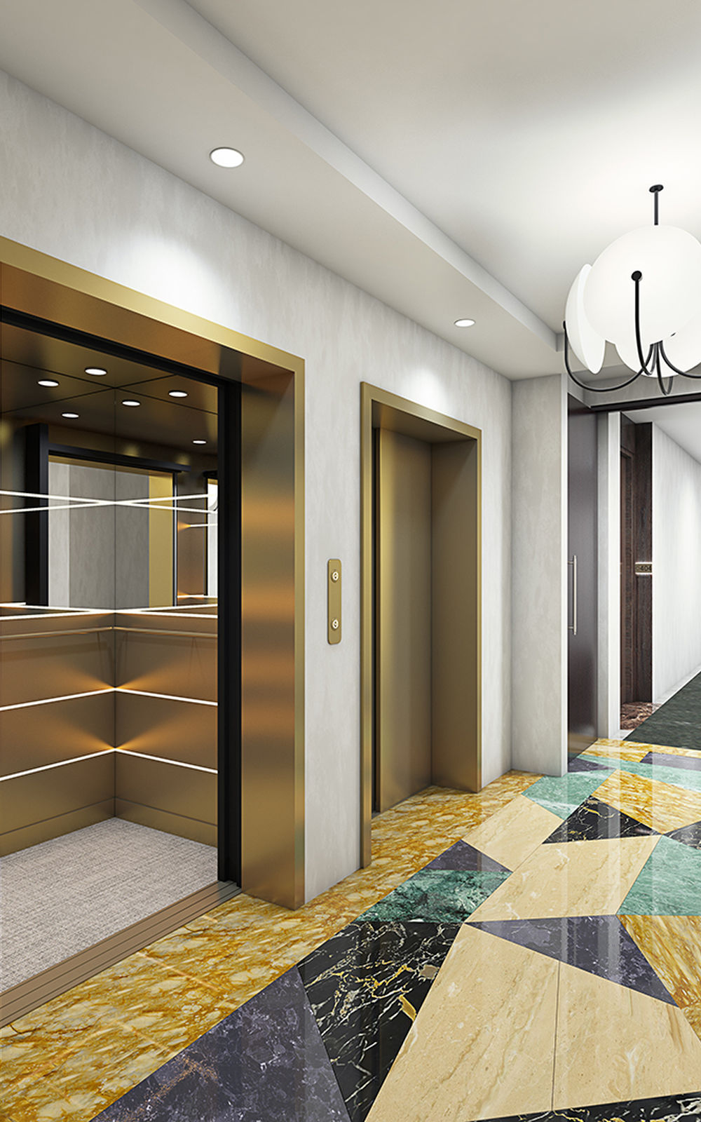 The Henry Apartments in Coral Gables, FL. Corridor