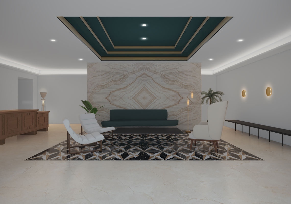 Front Lobby At The Henry Apartments in Coral Gables, FL.