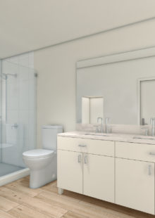 Spacious Bathroom Layouts At The Henry Apartments in Coral Gables, FL.